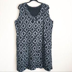 Fresh Produce Shift Dress 2X Sleeveless Pockets